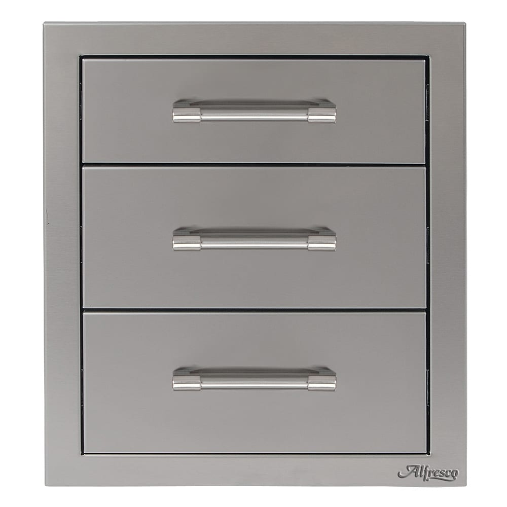 Alfresco 17 Inch Triple Drawer Axe 3dr Luxapatio