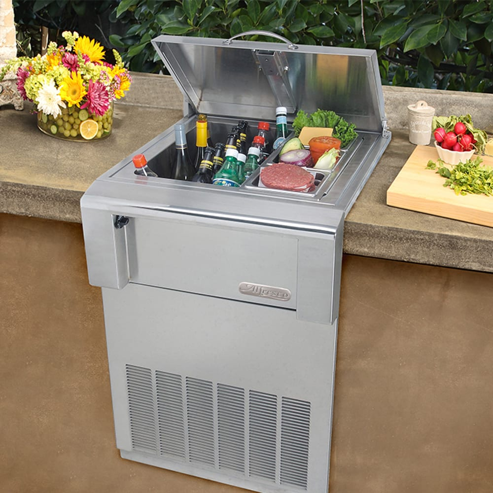Alfresco 24 Inch Versa Built In Counter Top Refrigerator
