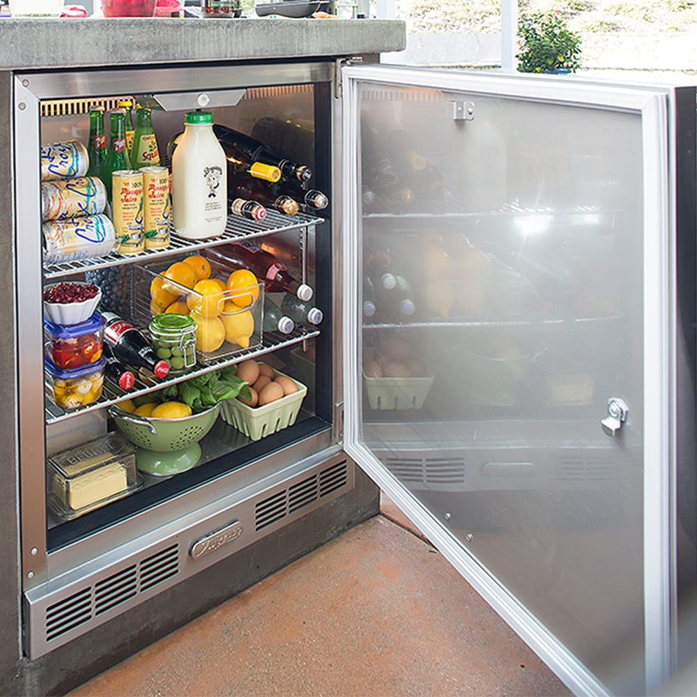 Alfresco 7 25 Cu Ft 28 Inch Compact Refrigerator And