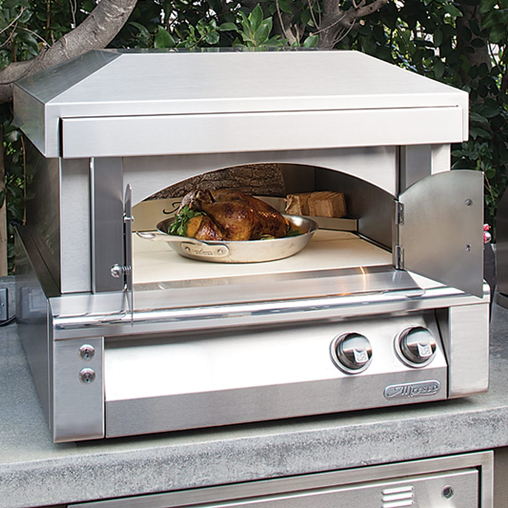 Alfresco 30 Inch Countertop Gas Pizza Oven Axe Pza Luxapatio