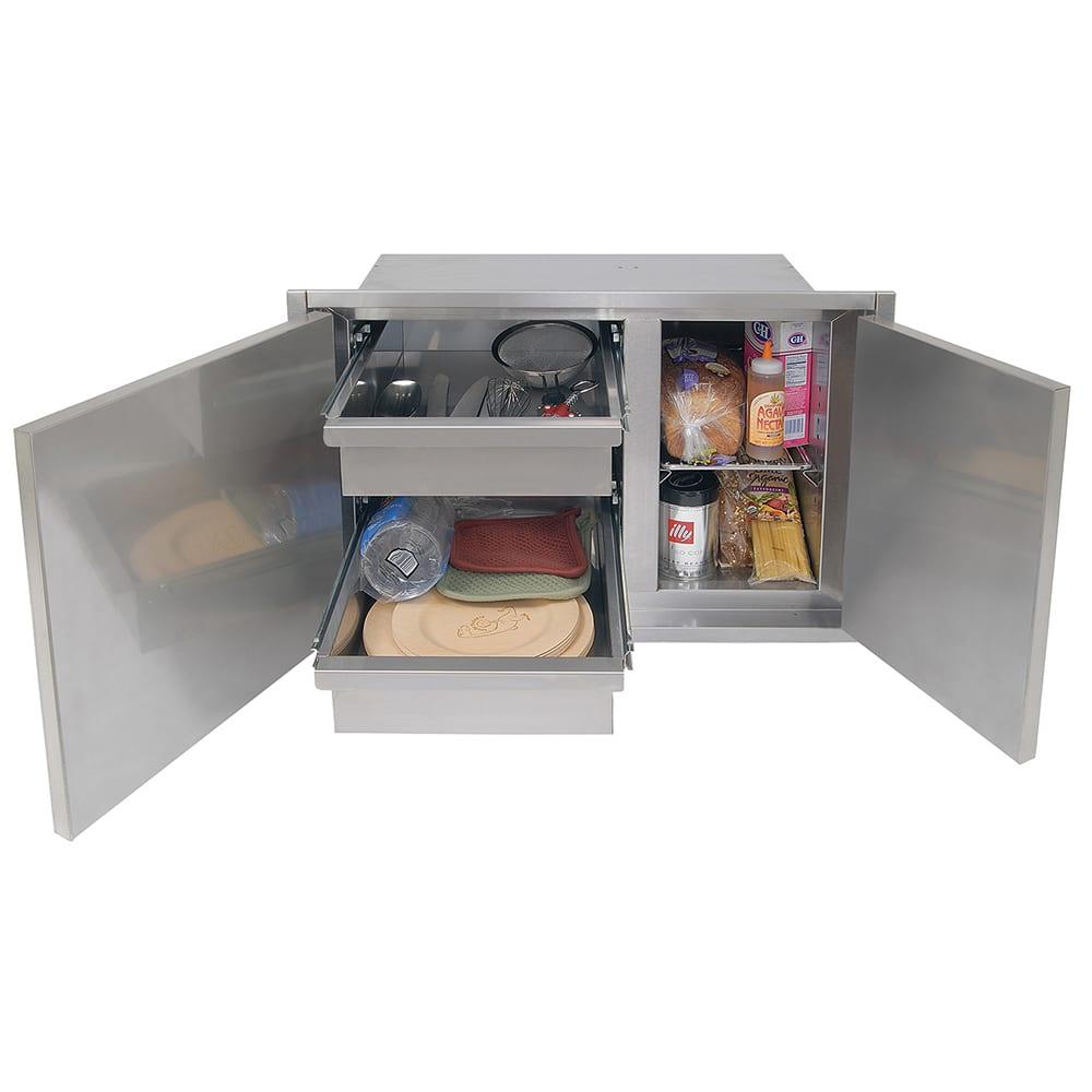 Alfresco 30 Inch Sealed Dry Storage Pantry Low Profile