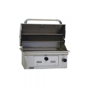 Bull-Bison-30-Inch-Charcoal-Built-In-Grill-open