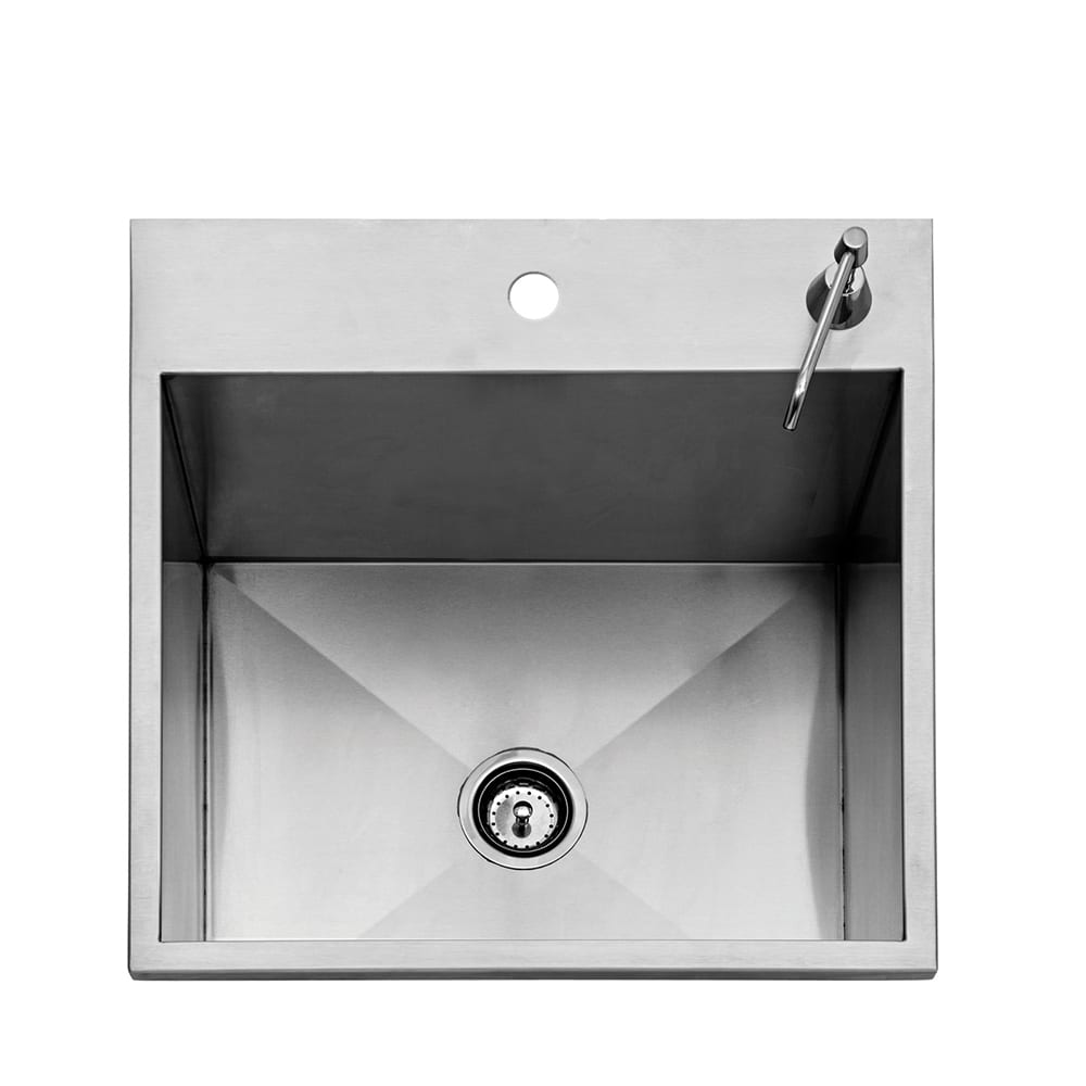 Twin Eagles 24 Inch Outdoor Sink with S/S Cover - TEOS24-B
