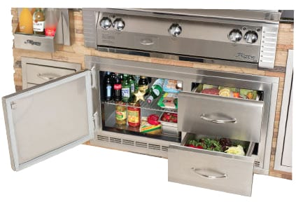 Alfresco 42 Inch Built In Under Grill Refrigerator Arxe 42