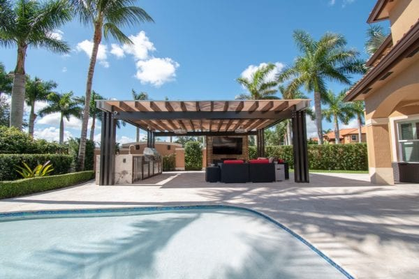 outdoor kitchen designs with pool layout custom outdoor kitchen in southwest miami kitchens luxapatio